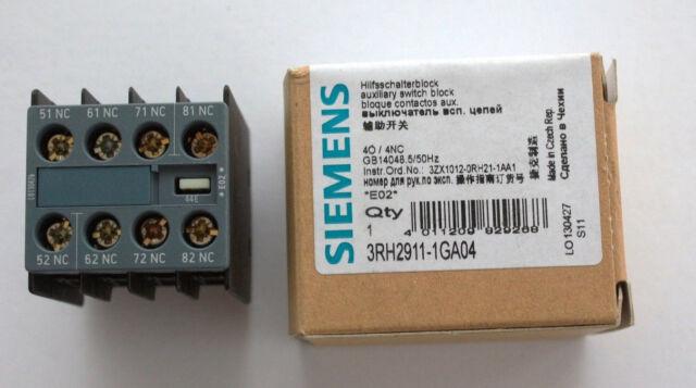 Siemens Hilfsschalterblock 4Ö S00 3RH2911-1GA04 EAN 4011209829268