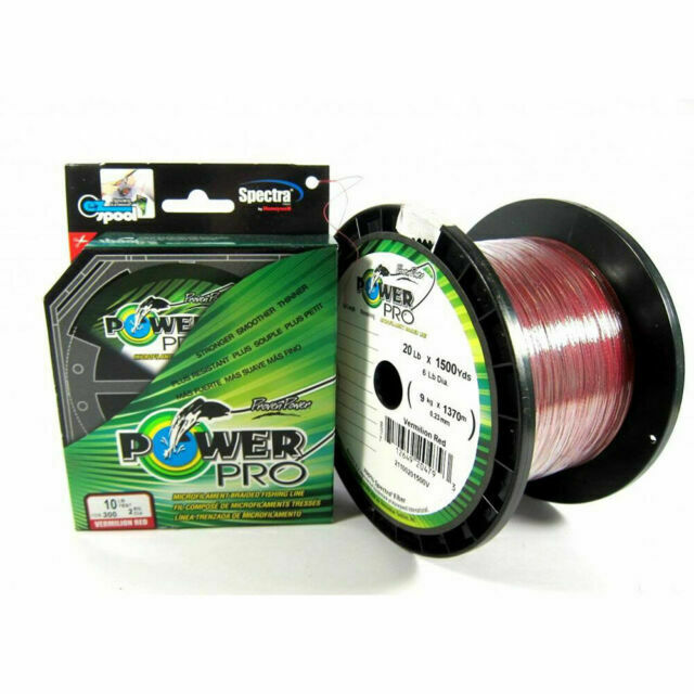 NEW Power Pro Spectra Braid Vermilion Red 8 lb 500 yards