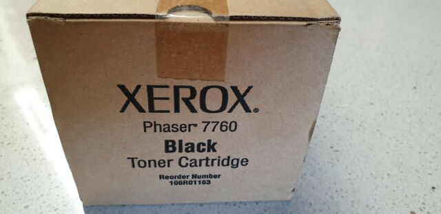 Genuine Xerox 106R01163 Black Toner for Phaser 7760 New Never Opened See Photos