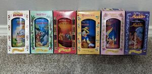 Vintage Disney Cups 1994 BK - Set of 6 - Dumbo Aladdin lion king beast Pinocchio