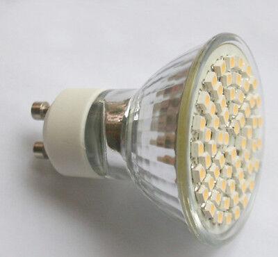GU10 60 SMD 3528 LED High Power Spot Light Lamp Bulb Warm White 200V-240V AC