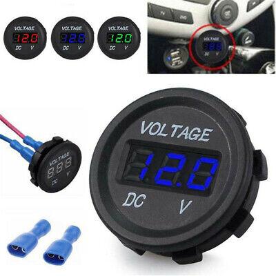 12V 24V DC Waterproof Car Motorcycle Red LED Digital Display Voltmeter Volt
