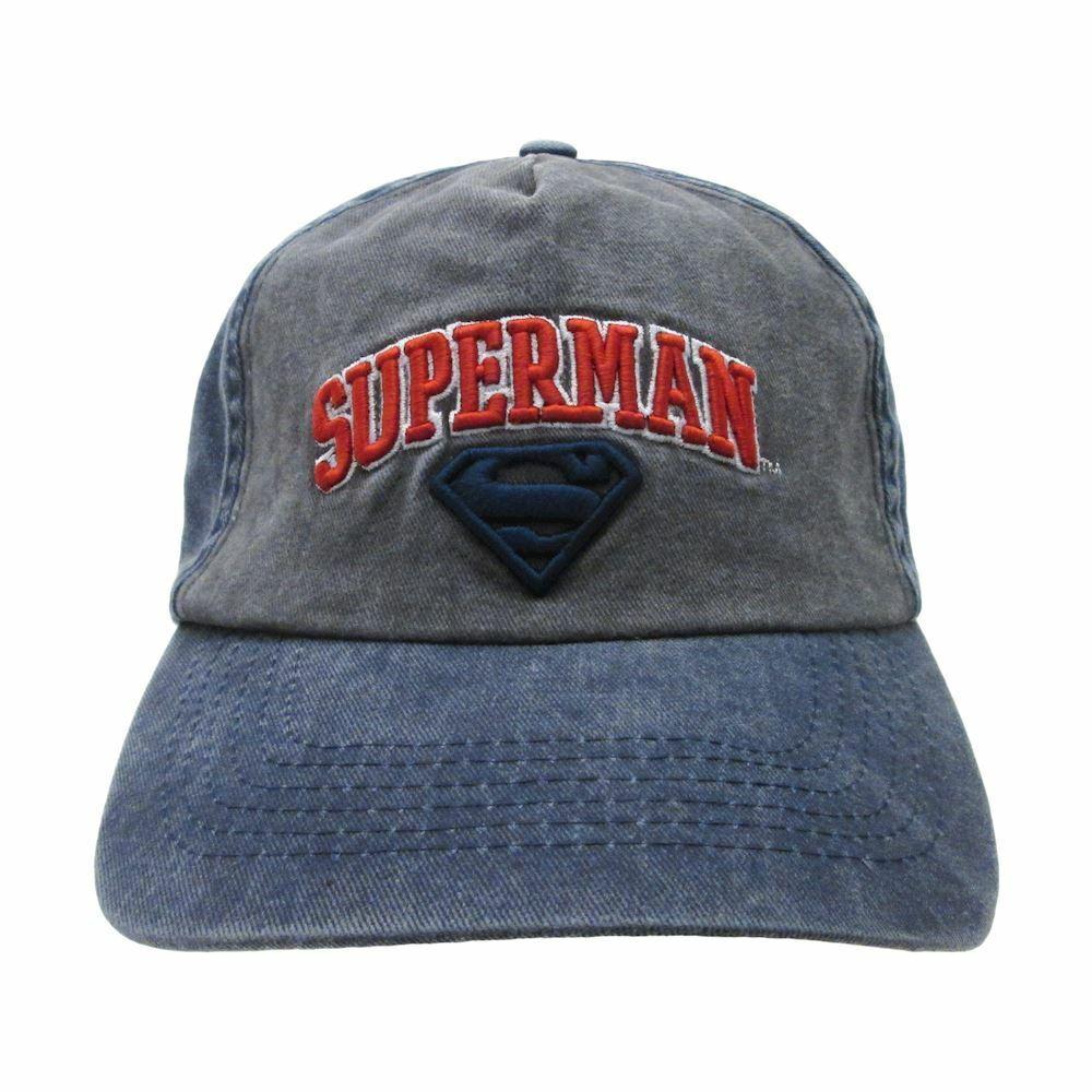 Hut Superman Jeans Einheitsgröße Einstellbar 58 Original Offiziel Dc Comics