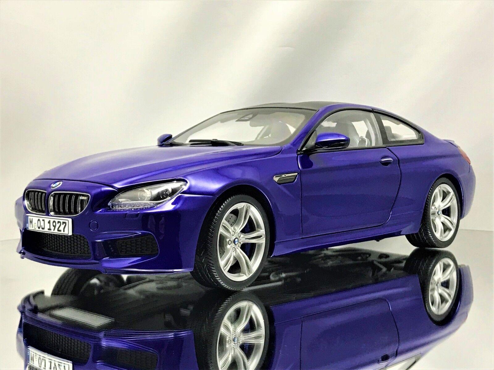 Paragon BMW M6 Coupe (F13M) blu Monte Carlo Modelo Diecast Modelo Coche 1 18
