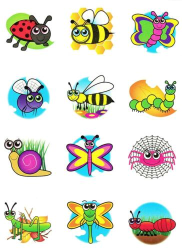 Childrends   Mini Insect Bug Temporary Tattoos Boys Party Bag /& Stocking Filler