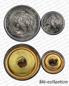 2-Popper-Button-Guard-Nationale-Coq-1848-1862-France-23-15-MM