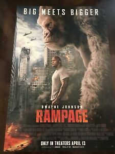 Rampage Movie Poster 11 5 X 17 Dwayne Johnson The Rock 2018