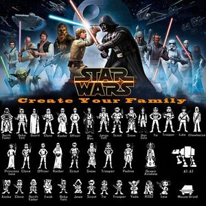 StarWars Characters Vinyl Decal Sticker Create Your Star Wars - Star wars family car decals