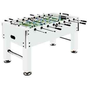 AX Set Calcio Balilla Biliardino 140x74.5x87.5cm Tavolo Regolabile Acciaio 92501