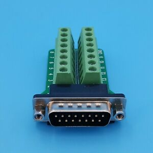 D-SUB-DB15-Male-2-Row-15Pin-Plug-Breakout-Board-Terminals-Connector
