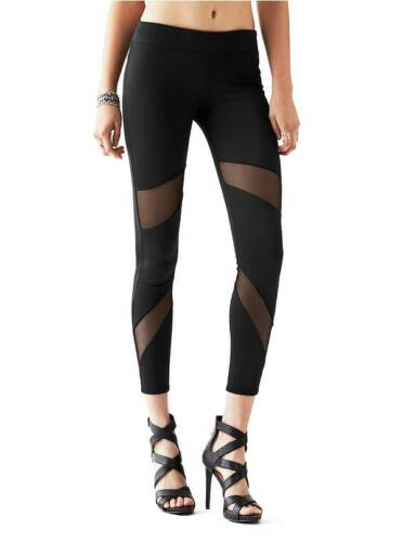 Guess Maisy Mesh Leggings Size XS Black #W5RB3100000 Good for Exercise /& Casual