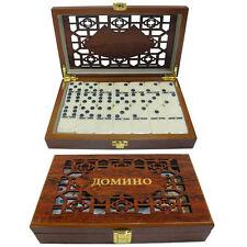 Juego Domino in Caja de madera 20 x 12 x 4 cm Juegos de mesa ИГРА ДОМИНО