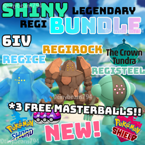 SHINY-REGIROCK-REGISTEEL-amp-REGICE-6IV-AVAILABLE-NOW-Pokemon-Sword-amp-Shield