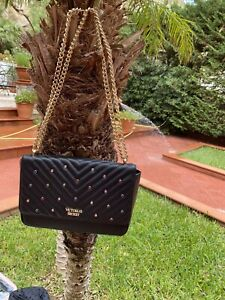 VICTORIA-039-S-SECRET-BORSA-TOTE-POCHETTE-BAG-NEW-NUOVO-ANGEL-BORSA-TRACOLLA-NERA