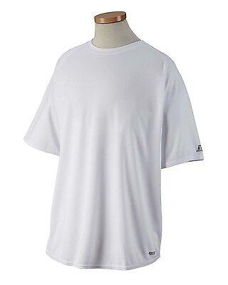 Russell Athletic Men/'s DRI-POWER White Short Sleeve Training Shirt Sz M NEW