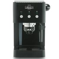 Gaggia Gran Style Manual Coffee Machine 15 Bar Pressure Black Espresso Bnib