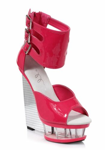 Ellie Shoes 610-MIRA 6 Inch Wedge With Ankle Strap