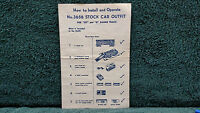 Lionel 3656 Stock Car Outfit Operating Cattle Car Instructions Photocopy