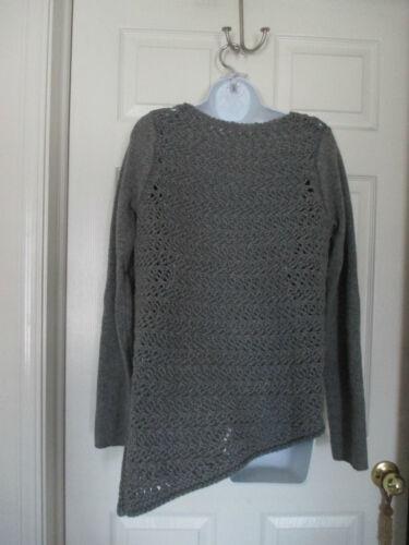 Lang Donna Crochet Lana Assymetrical cachemire Grigio Taglia 425 M 00 Maglione Helmut zqxd6z