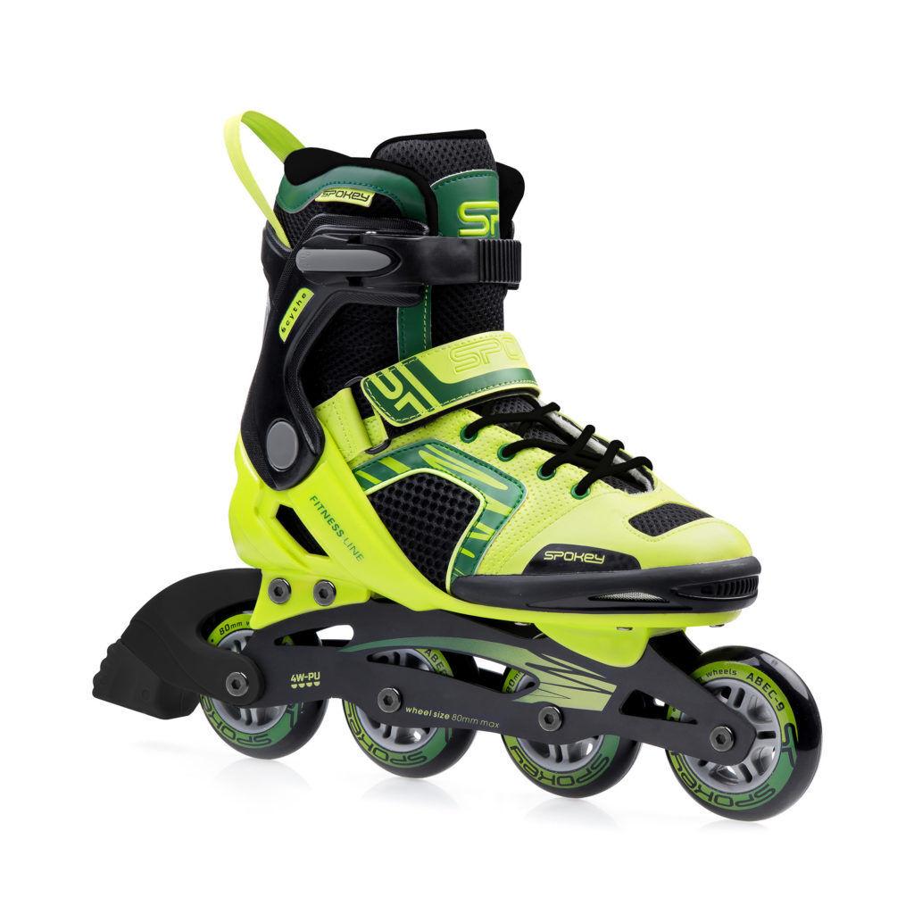 Damen Herren Inlineskates Inliner ABEC9 CARBON Skates Rollen 80 mm SCYTHE Spokey