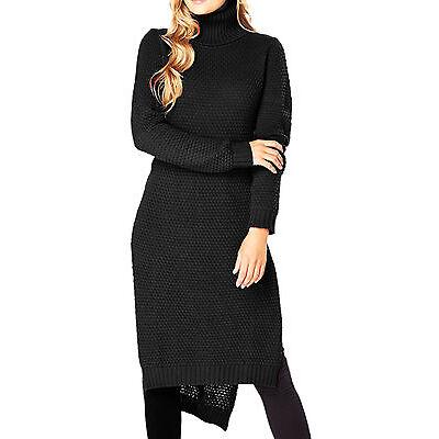 Women's UK Plus Size 8 - 22 Black Cotton Jumpers Sweaters Dress