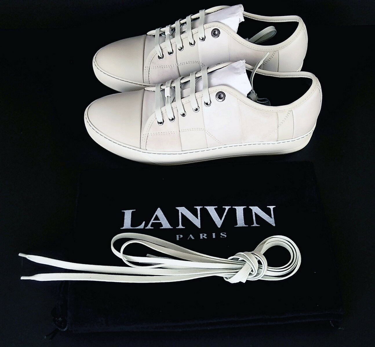 LANVIN CLASSIC PATCHWORK TOE CAP Turnschuhe - NEW IN BOX - UK7 to UK10