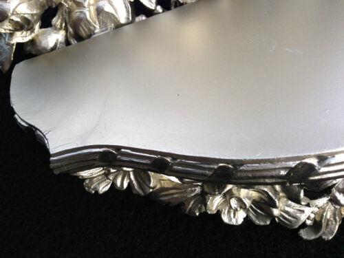 Wandkonsole Antik Silber//Wanddekoration Blumen //BAROCK Ablage  Neu B:35cm cp83