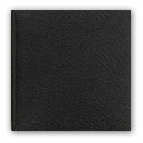 60 Sides Overall Size 12.75x12 Inc Berlin Cotton Black Traditional Photo Album
