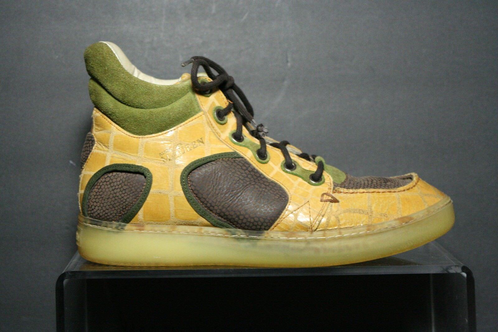Puma Alexander McQueen Joust III High Men 9 Multi Athletic Leather Hipster Croc