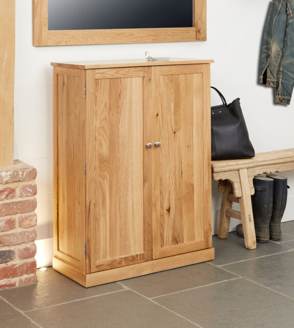 baumhaus mobel oak large shoe cupboard holds 18 pairs of shoes solid oak