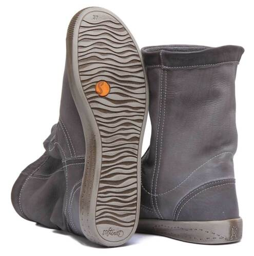 Softinos Iggy 269 Womens Soft Leather Grey Slouch Boots UK Size 3-8