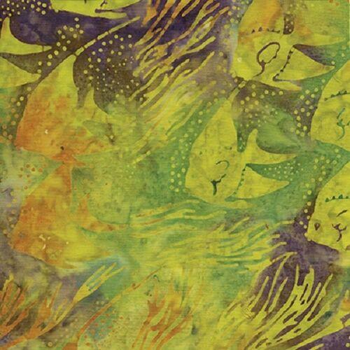 Batik tissu, island batik, surf squirt 111619133-6/720,100% coton fat quarters,