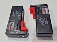 (2-pack) Universal Battery Tester Aa/aaa/c/d/9v/coin Us-shipper Fast Free