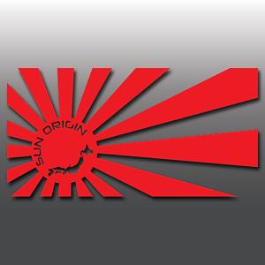 1x-JDM-Sun-Origin-Rising-Sun-Car-Vinyl-Decal-Sticker-Japanese-Mazda-Nissan