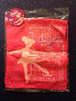 Angelina Ballerina Nuovo Bambino Da Palestra Borsa Nuovo Con Etichette.-