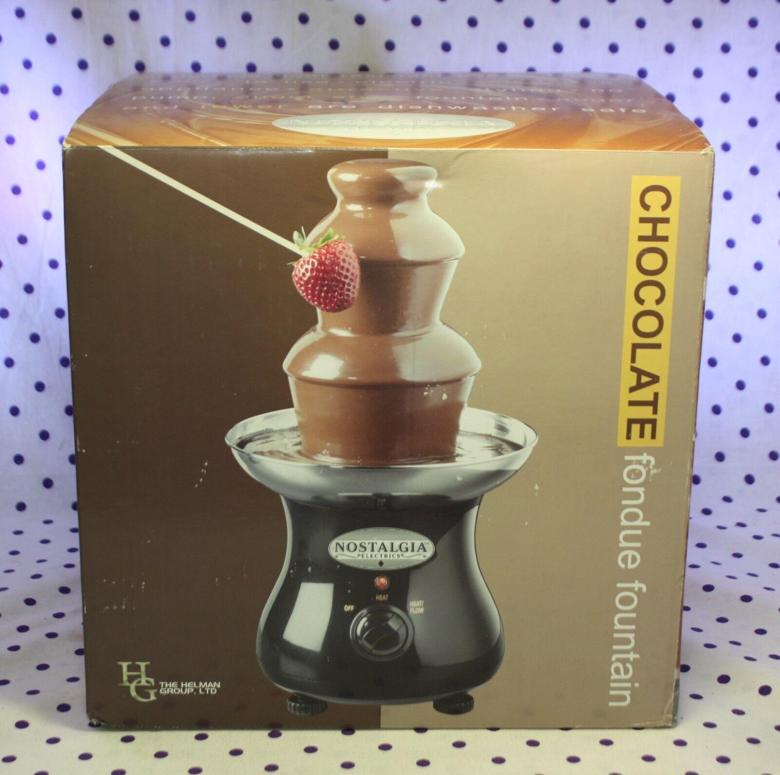 Russell Stover 3-Tier Fondue Au Chocolat Fontaine En Acier Inoxydable Bol Nostalgie