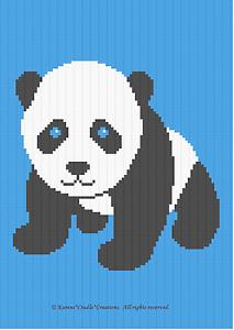 baby panda bear color graph afghan pattern easy ebay. Black Bedroom Furniture Sets. Home Design Ideas