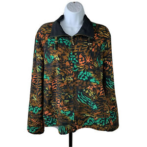 Zenergy-By-Chico-s-Women-s-Jacket-Sz-2-Colorful-Leopard-Print
