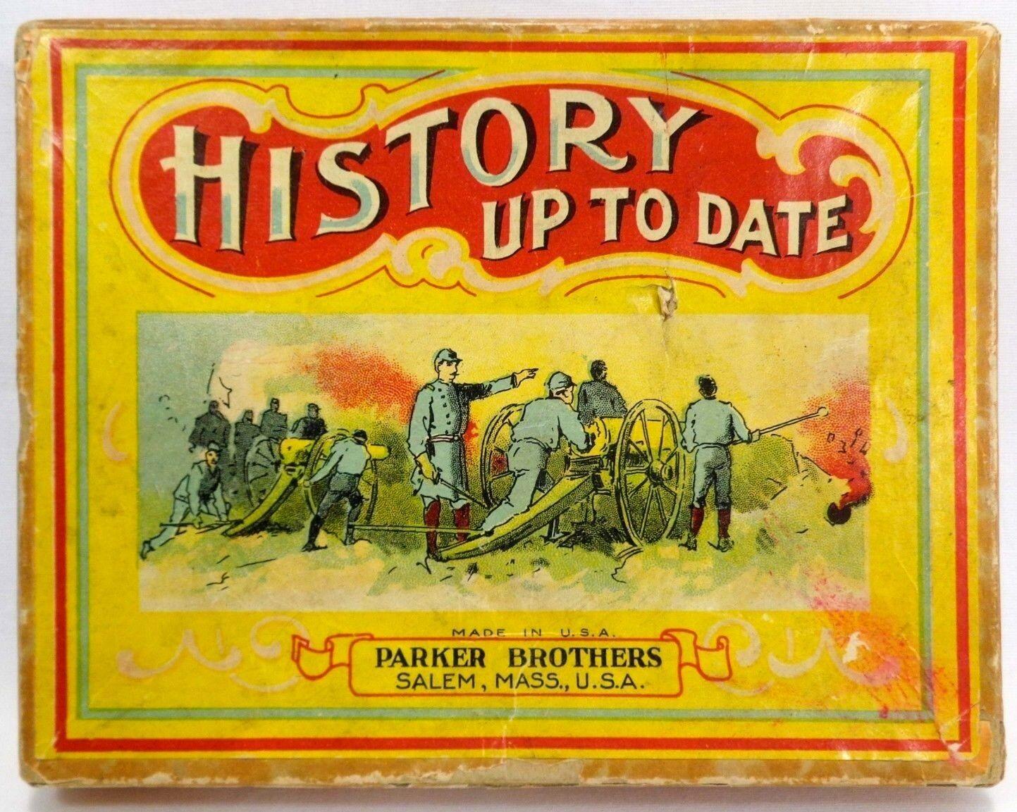 Early 20TH C  vint  l' histoire jusqu 'à ce jour  cerveau jeu 1918 par Parker Bros Salem, Mazinger Angel  confortablement