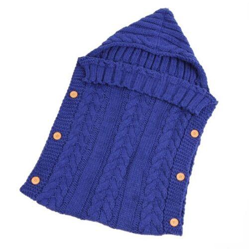 Newborn Baby Sleeping Bag  Autumn Winter Warm Swaddle Wrap Blanket Knit Crochet