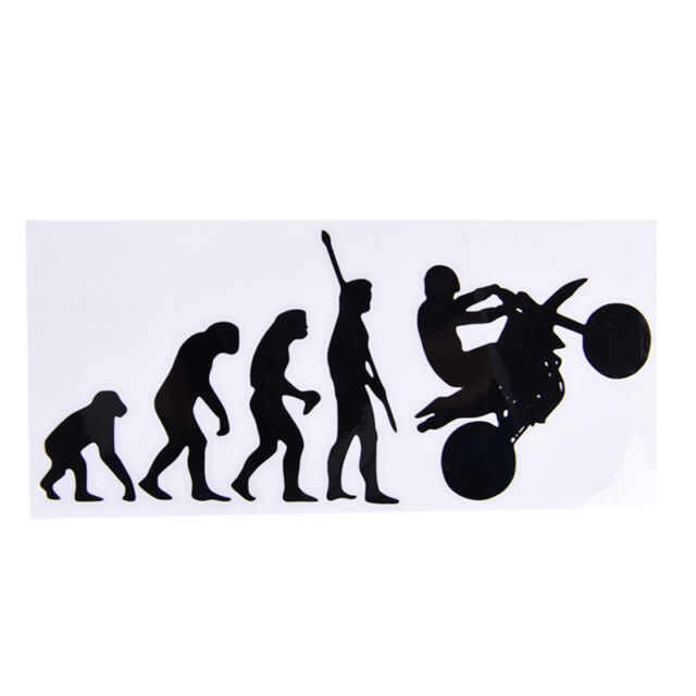 Human Evolution Motorcycle Car Stickers Personalized Vinyl Reflective Decalsfj