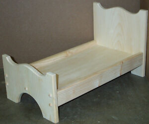 wood doll bed unfinished pine wood for 18 quot dolls ebay