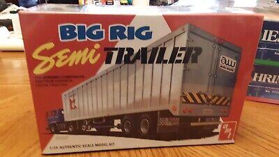 BIG RIG SIMI TRAILER  AMT 1:25 SCALE 2-N-1 PLASTIC MODEL TRAILER KIT
