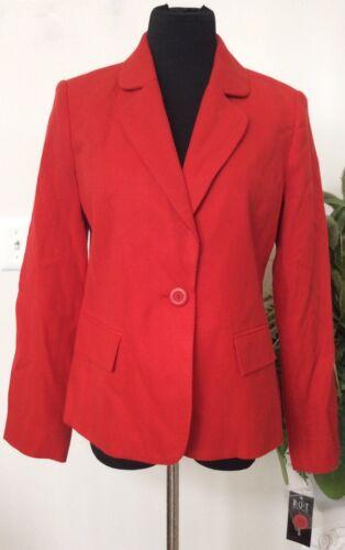 acrilico 00 Sz12p Women's t blazer Mrsp q in Tweed R Career Giacca Red Nwt 100 68 HvpnqZwU