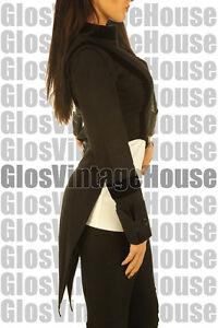 ladies black tailcoat steampunk gothic women formal