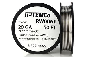 TEMCo-Nichrome-60-series-wire-20-Gauge-50-Ft-Resistance-AWG-ga