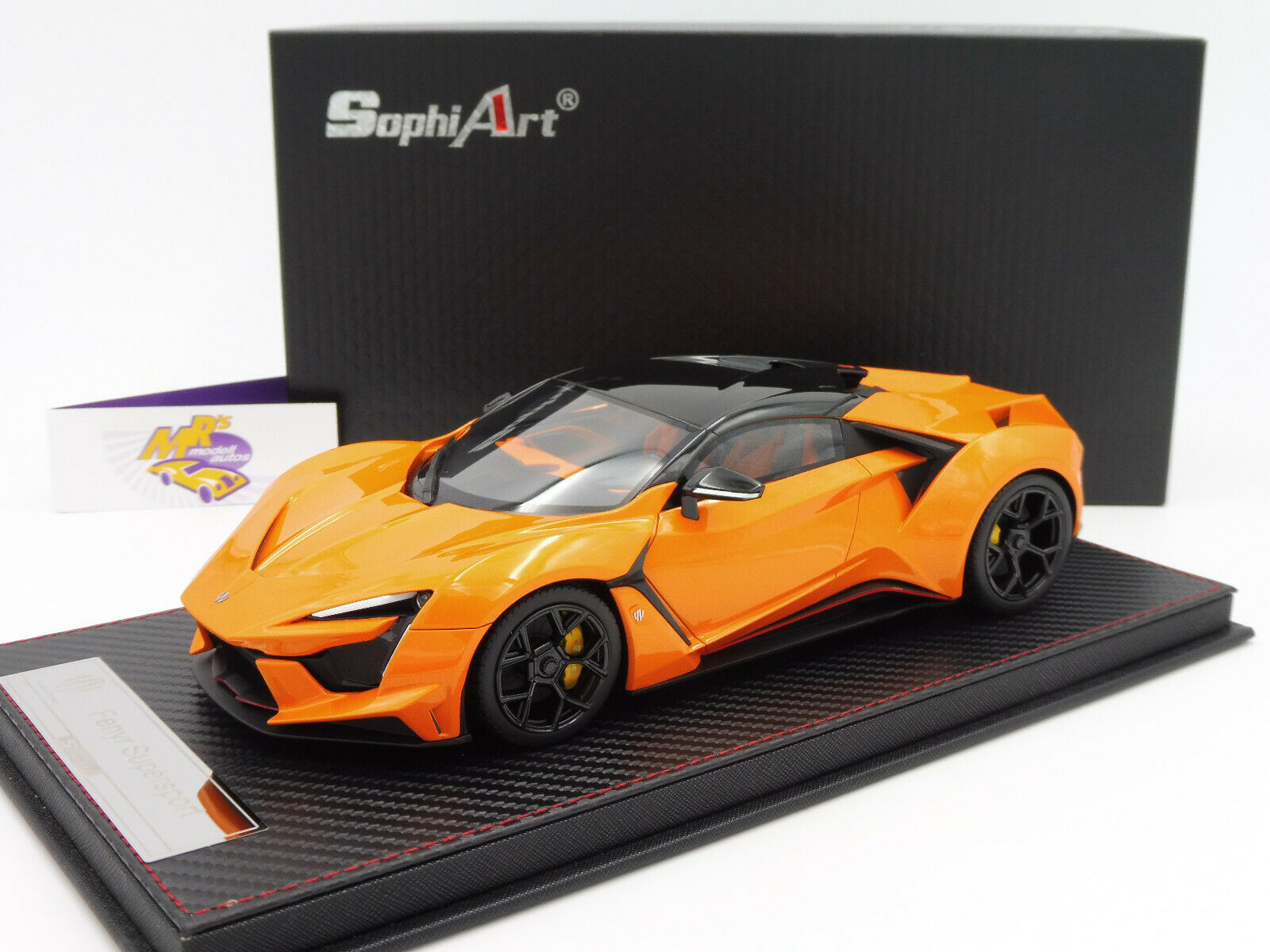 Frontiart SA003-34   fenyr Supersport W  Engine Year 2016  Orangemet.  1 18  garanti