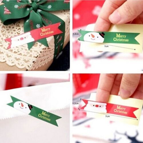 Paper Sticker Christmas Seal Tags 120 Pcs//set Party Baking Packaging Labels