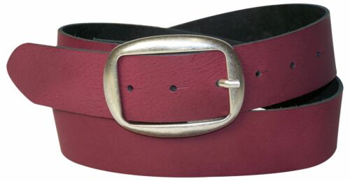 FRONHOFER Damengürtel ovale Gürtelschnalle altsilber modischer echt Ledergürtel