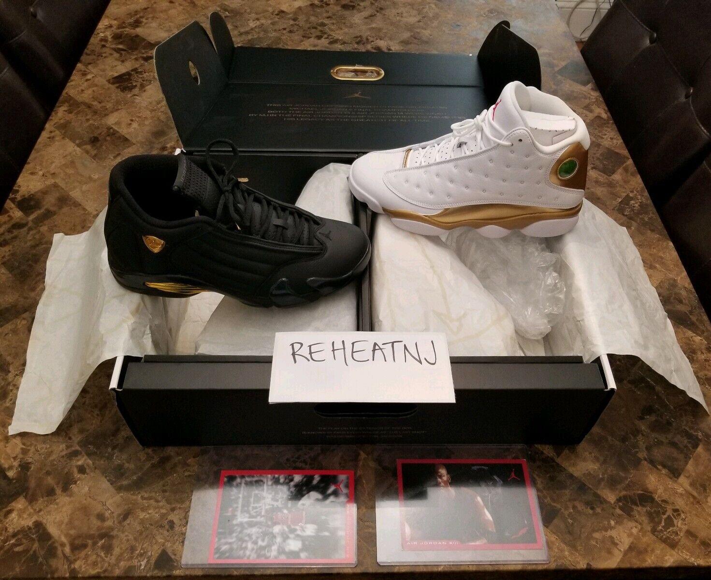 Nike Air Jordan 13 14 DMP Finals Defining Moments Pack 897563-900 Size 10.5